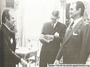 Crown Prince of Denmark receives Erwin Guerrovich in 1978