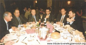 Table of honour from left: Erwin Guerrovich of Intermarkets; Mustapha Assad, Publi-Graphics; May Kahale, Information Advisor at the Presidential Palace; Deputy Joseph Moghaizel; Jean-Claude Boulos, Inter-Regies and Walid Azzi Publisher of ArabAd
